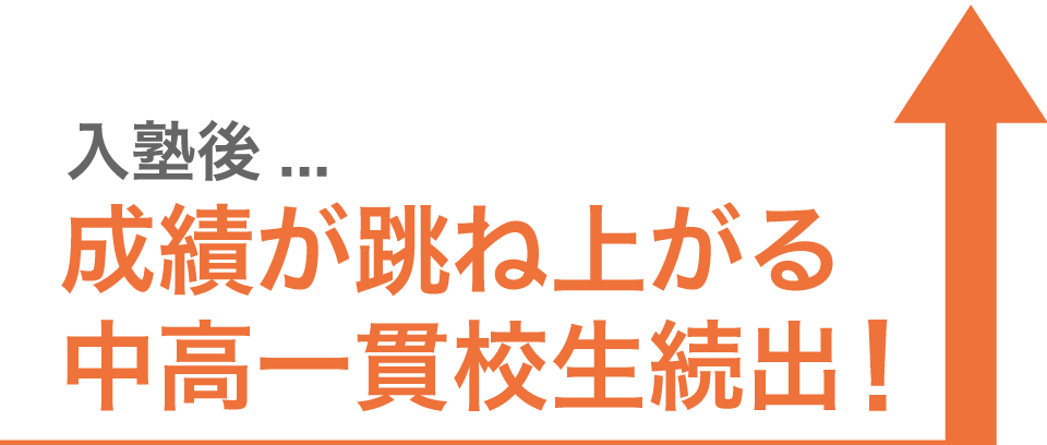 入塾後成績が跳ね上がる中高一貫校生続出!
