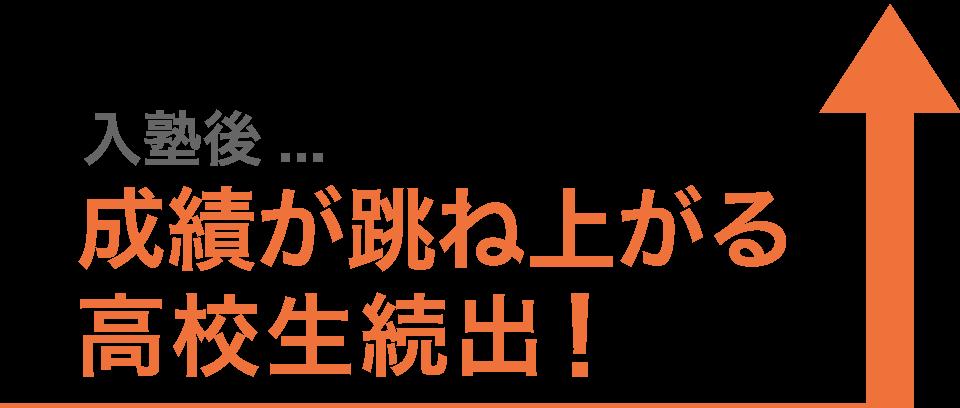 入塾後成績が跳ね上がる高校生続出!